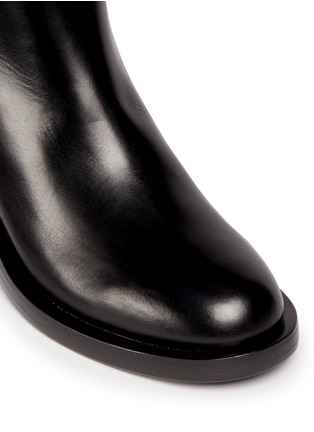 Detail View - Click To Enlarge - Nicholas Kirkwood - 'Casati' faux pearl heel leather ankle boots