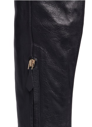 Detail View - Click To Enlarge - NICHOLAS KIRKWOOD - Faux pearl heel thigh high leather boots