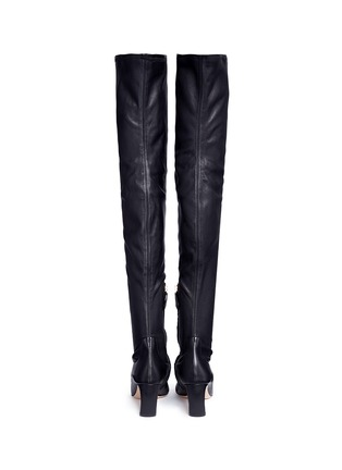 Back View - Click To Enlarge - Nicholas Kirkwood - Faux pearl stretch leather thigh high boots
