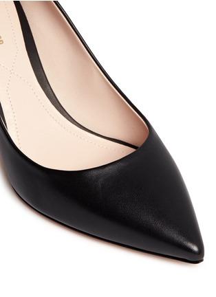 Detail View - Click To Enlarge - Nicholas Kirkwood - 'Maeva' faux pearl heel leather pumps