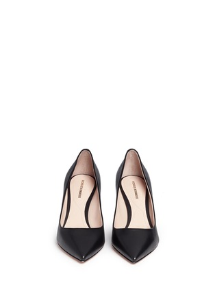 Front View - Click To Enlarge - Nicholas Kirkwood - 'Maeva' faux pearl heel leather pumps