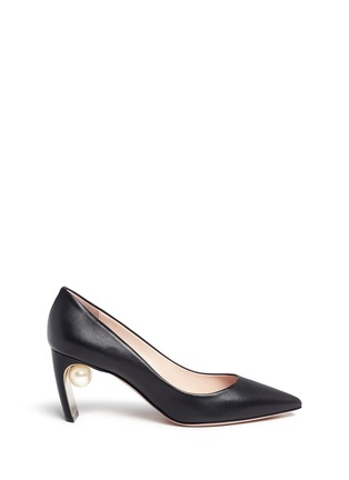 Main View - Click To Enlarge - Nicholas Kirkwood - 'Maeva' faux pearl heel leather pumps