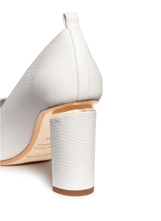 Detail View - Click To Enlarge - Nicholas Kirkwood - 'Beya' metal trim heel leather pumps