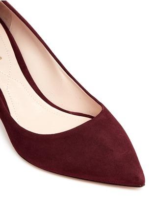 Detail View - Click To Enlarge - Nicholas Kirkwood - 'Maeva' faux pearl heel suede pumps