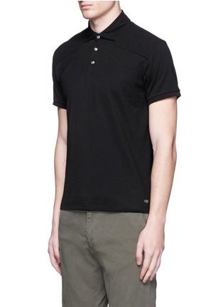 Front View - Click To Enlarge - Scotch & Soda - Garment dyed piqué polo shirt