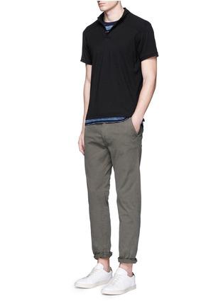 Figure View - Click To Enlarge - Scotch & Soda - Garment dyed piqué polo shirt