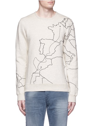 Main View - Click To Enlarge - Scotch & Soda - Embroidered sweatshirt