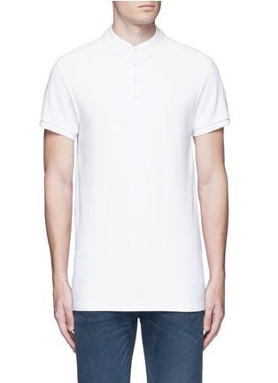 Main View - Click To Enlarge - Scotch & Soda - 'Home Alone' cotton piqué polo shirt