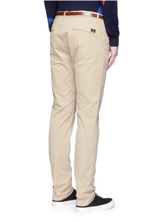 Back View - Click To Enlarge - Scotch & Soda - 'Stuart' garment dyed slim fit chinos