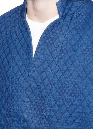 Detail View - Click To Enlarge - Scotch & Soda - Interlock stitch cotton sherwani jacket