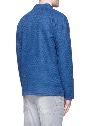 Back View - Click To Enlarge - Scotch & Soda - Interlock stitch cotton sherwani jacket