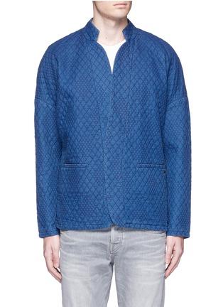 Main View - Click To Enlarge - Scotch & Soda - Interlock stitch cotton sherwani jacket