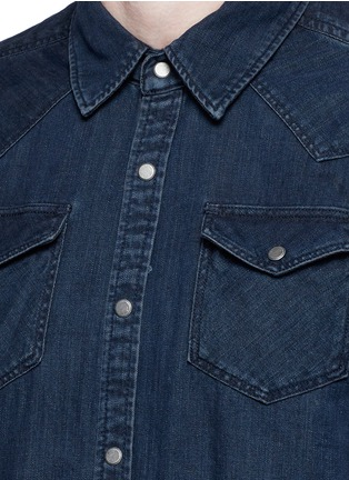 Detail View - Click To Enlarge - Scotch & Soda - Denim Western shirt