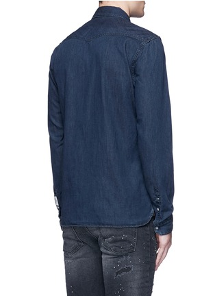 Back View - Click To Enlarge - Scotch & Soda - Denim Western shirt