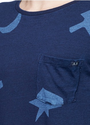 Detail View - Click To Enlarge - Scotch & Soda - Symbol print indigo dye T-shirt