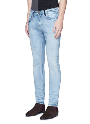 Front View - Click To Enlarge - Scotch & Soda - 'Lot 22 The Skim' bleach wash jeans