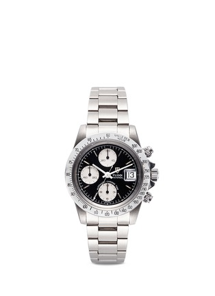 Main View - Click To Enlarge - Lane Crawford Vintage Collection - Vintage TUDOR Oysterdate 79180 Big Block black dial watch
