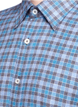 Detail View - Click To Enlarge - Canali - Check cotton flannel shirt