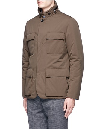Front View - Click To Enlarge - Canali - Padded water repellent jacket