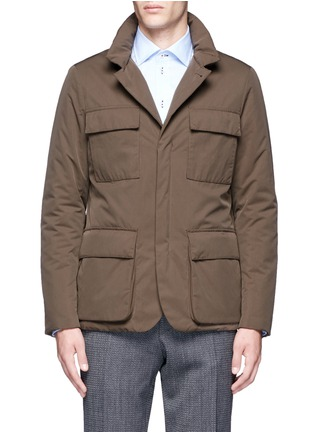 Main View - Click To Enlarge - Canali - Padded water repellent jacket