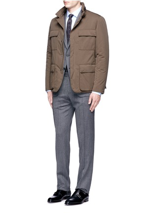 Figure View - Click To Enlarge - Canali - Padded water repellent jacket