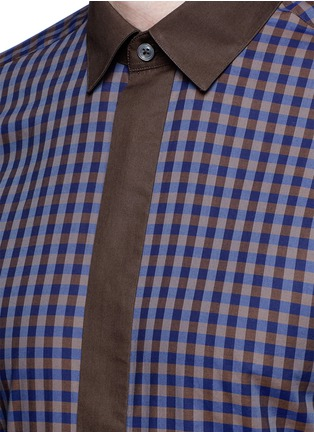 Detail View - Click To Enlarge - Canali - Gingham check cotton shirt