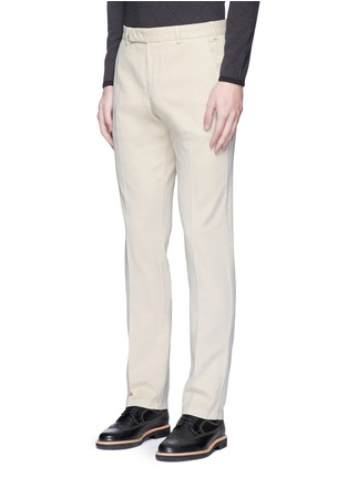 Front View - Click To Enlarge - Armani Collezioni - Regular fit cotton chinos