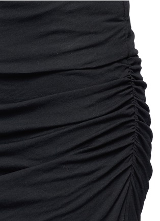 Detail View - Click To Enlarge - James Perse - Shirred cotton jersey tube skirt