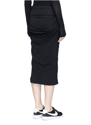 Back View - Click To Enlarge - James Perse - Shirred cotton jersey tube skirt