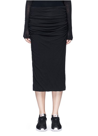 Main View - Click To Enlarge - James Perse - Shirred cotton jersey tube skirt