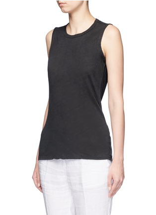 Front View - Click To Enlarge - James Perse - Linen-cotton tomboy tank top