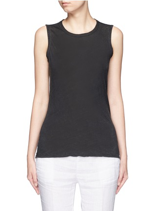Main View - Click To Enlarge - James Perse - Linen-cotton tomboy tank top