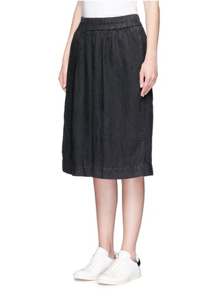 Front View - Click To Enlarge - James Perse - Short linen culottes