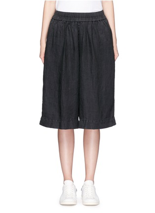 Main View - Click To Enlarge - James Perse - Short linen culottes