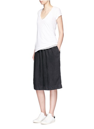 Figure View - Click To Enlarge - James Perse - Short linen culottes