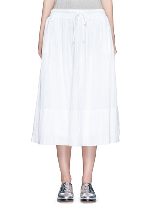 Main View - Click To Enlarge - JAMES PERSE - Puckered drawstring cotton gauze skirt