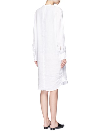Back View - Click To Enlarge - JAMES PERSE - Dolman sleeve linen shirt dress