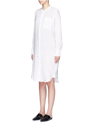 Front View - Click To Enlarge - JAMES PERSE - Dolman sleeve linen shirt dress