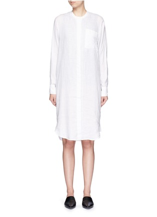 Main View - Click To Enlarge - JAMES PERSE - Dolman sleeve linen shirt dress