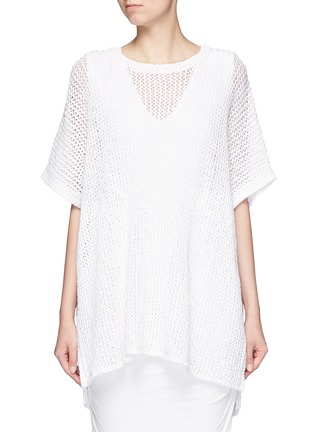 Main View - Click To Enlarge - James Perse - Cotton-linen high gauge poncho top