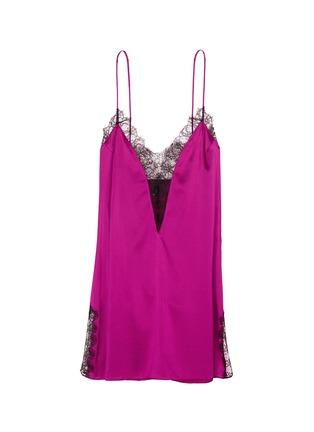 Main View - Click To Enlarge - Kiki De Montparnasse - Lace inset silk camisole