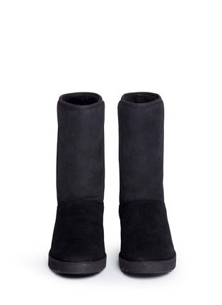 Front View - Click To Enlarge - UGG - 'Amie' twinface sheepskin wedge boots