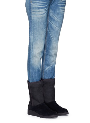 Figure View - Click To Enlarge - UGG - 'Amie' twinface sheepskin wedge boots