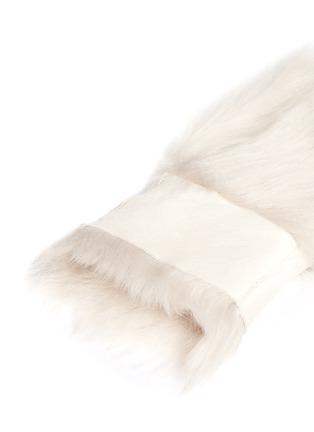 Detail View - Click To Enlarge - KARL DONOGHUE - Reversible Toscana lambskin shearling fingerless gloves