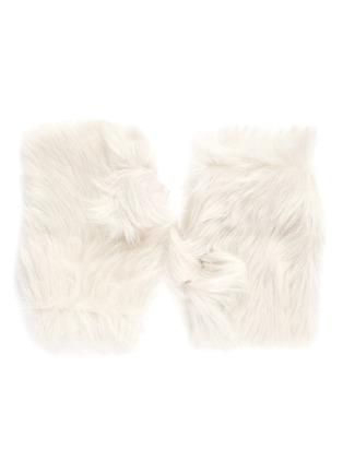 Main View - Click To Enlarge - KARL DONOGHUE - Reversible Toscana lambskin shearling fingerless gloves
