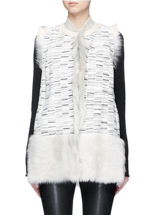 Main View - Click To Enlarge - KARL DONOGHUE - Reversible stripe print lambskin shearling gilet