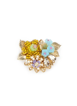 Main View - Click To Enlarge - Miriam Haskell - Swarovski crystal beaded bouquet brooch