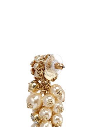 Detail View - Click To Enlarge - Miriam Haskell - Crystal glass pearl drop earrings