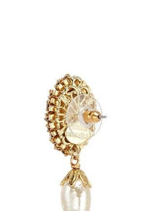 Detail View - Click To Enlarge - MIRIAM HASKELL - Swarovski crystal glass pearl drop earrings