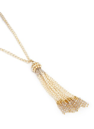 Detail View - Click To Enlarge - Miriam Haskell - Baroque pearl tassel pendant necklace
